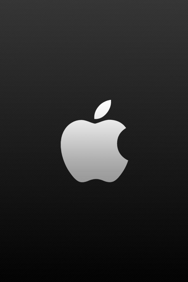 Black background and white apple logo iPhone wallpapers Background 640x960