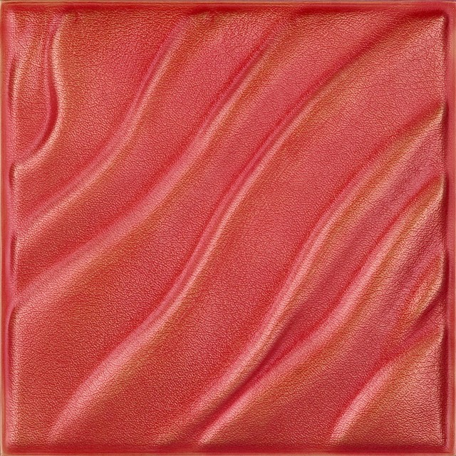 DCT LRT14 Faux Leather Ceiling Tile   Coral Gold  wallpaper 640x640