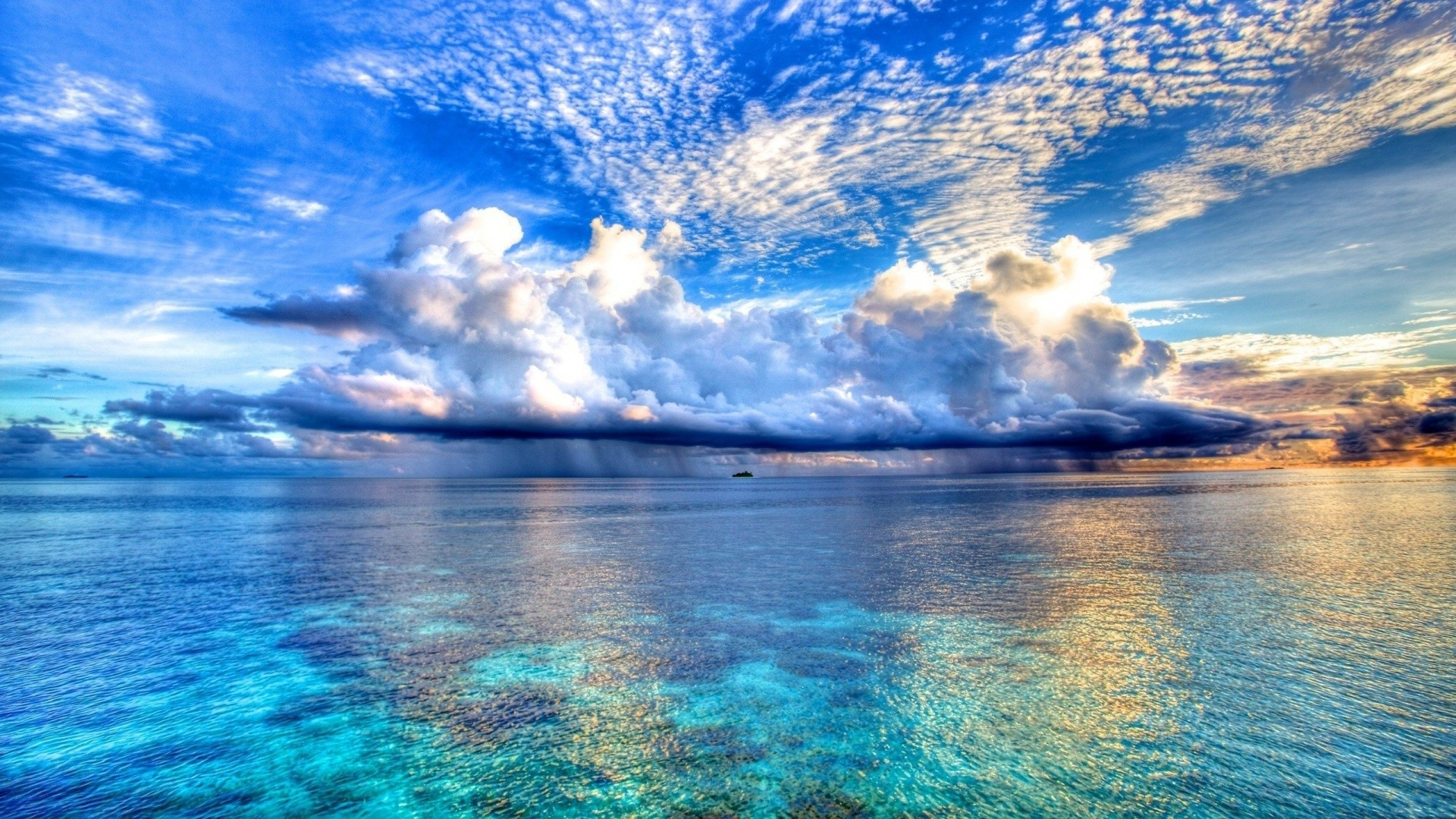 Beautiful Sea Wide HD Desktop Background Wallpaper Photos 1920x1080