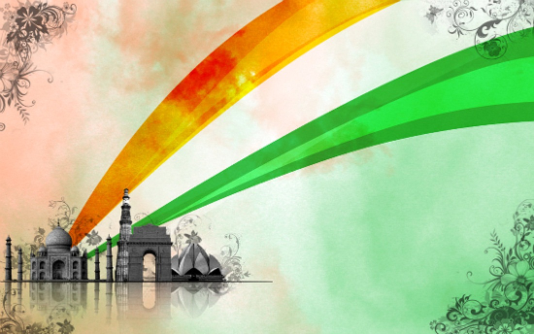 Indian Monuments Independence Day Wallpaper Coloring 1100x688