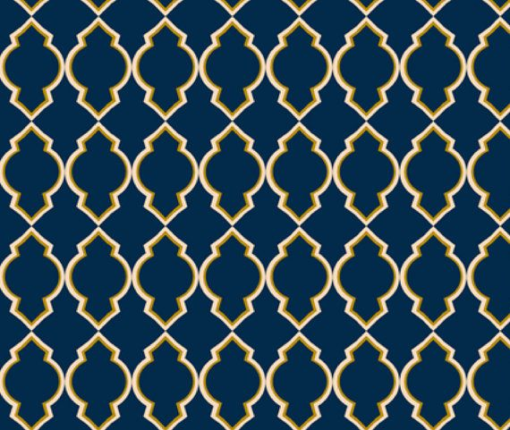 Custom Moroccan Wallpaper by megancarn on Etsy 7000 Deep tealnavy 570x481