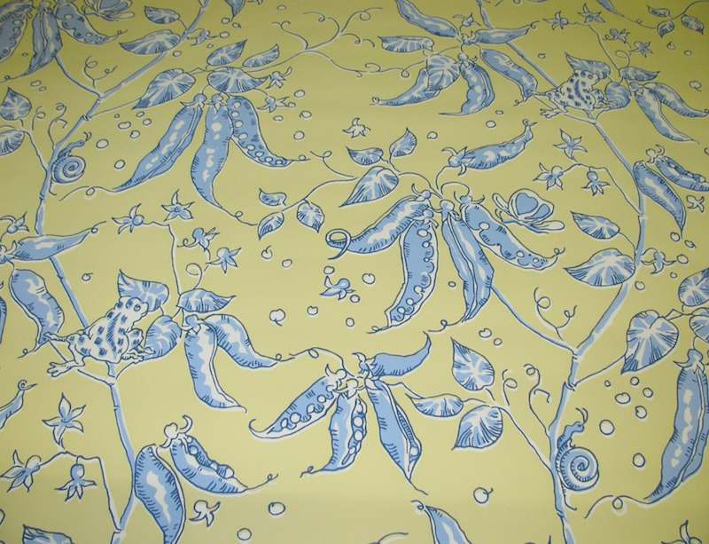 END The wallpaper has a YELLOW BLUE CREAM color palette and a PETIT 800x613