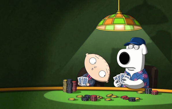 Wallpaper family guy poker look brian dog stewie wallpapers 596x380