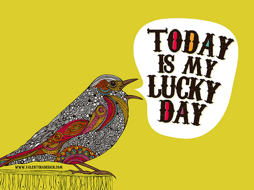 Wallpaper   Today is my Lucky day Flickr   Photo Sharing 500x375