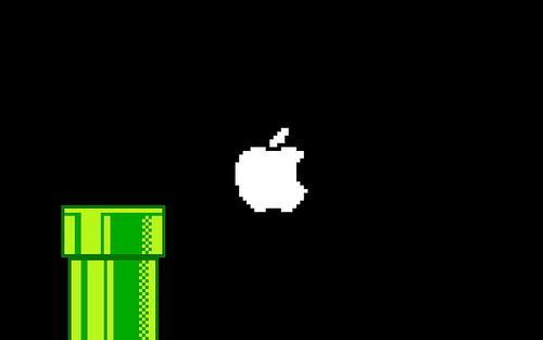 Apple 8 Bit Mario Wallpaper Flickr   Photo Sharing 500x313