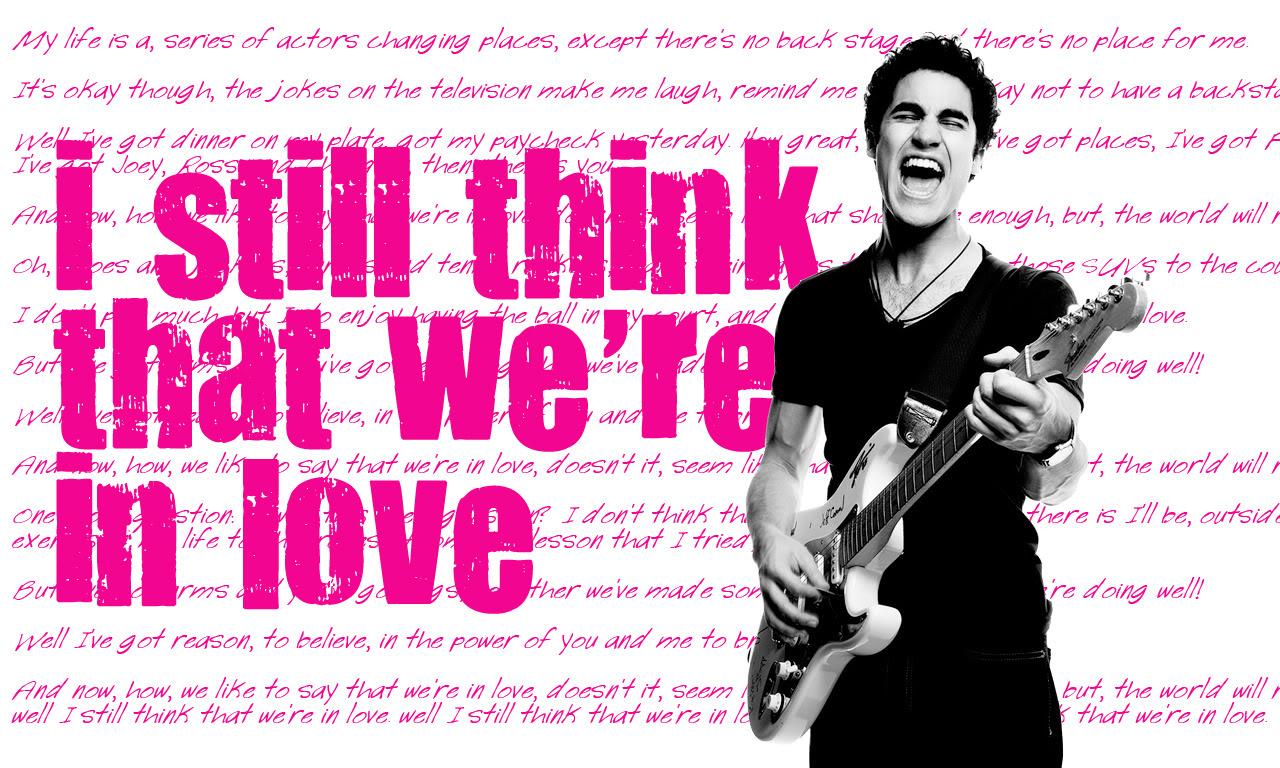 Lyrics from the song I Still Think by Darren Criss 1280x768