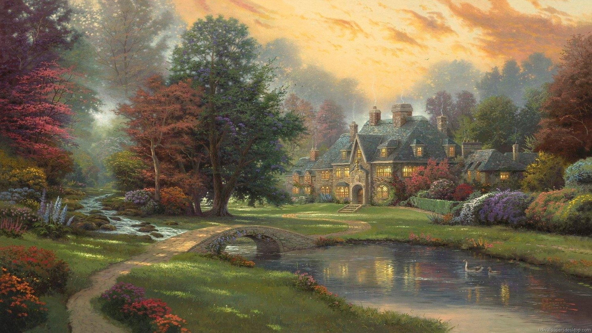 Wallpapers famous painting artist painter brush oil on canvas awesome 1920x1080