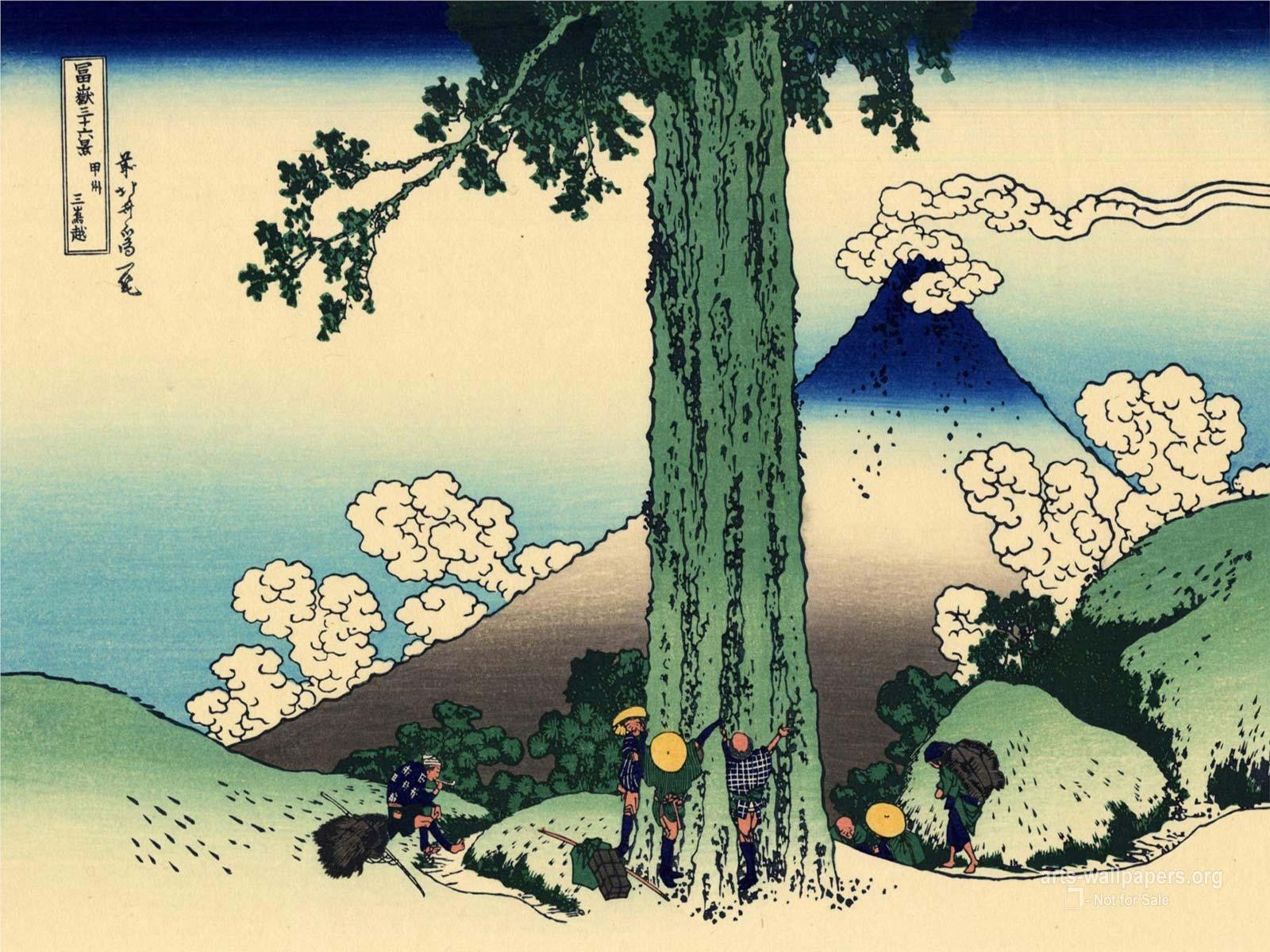 Hokusai Katsushika Wallpapers Paintings Art Wallpapers Desktop Art 1600x1200