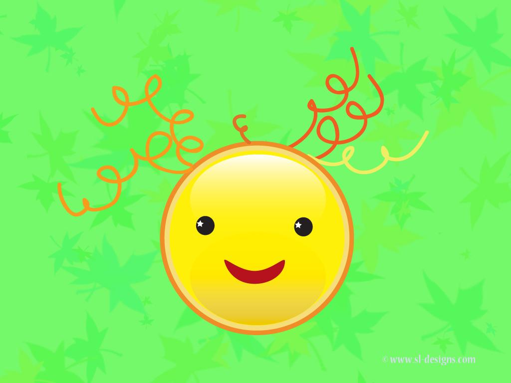 Cute Smiley Faces Wallpaper smiley face on green desktop wallpaper 1024x768