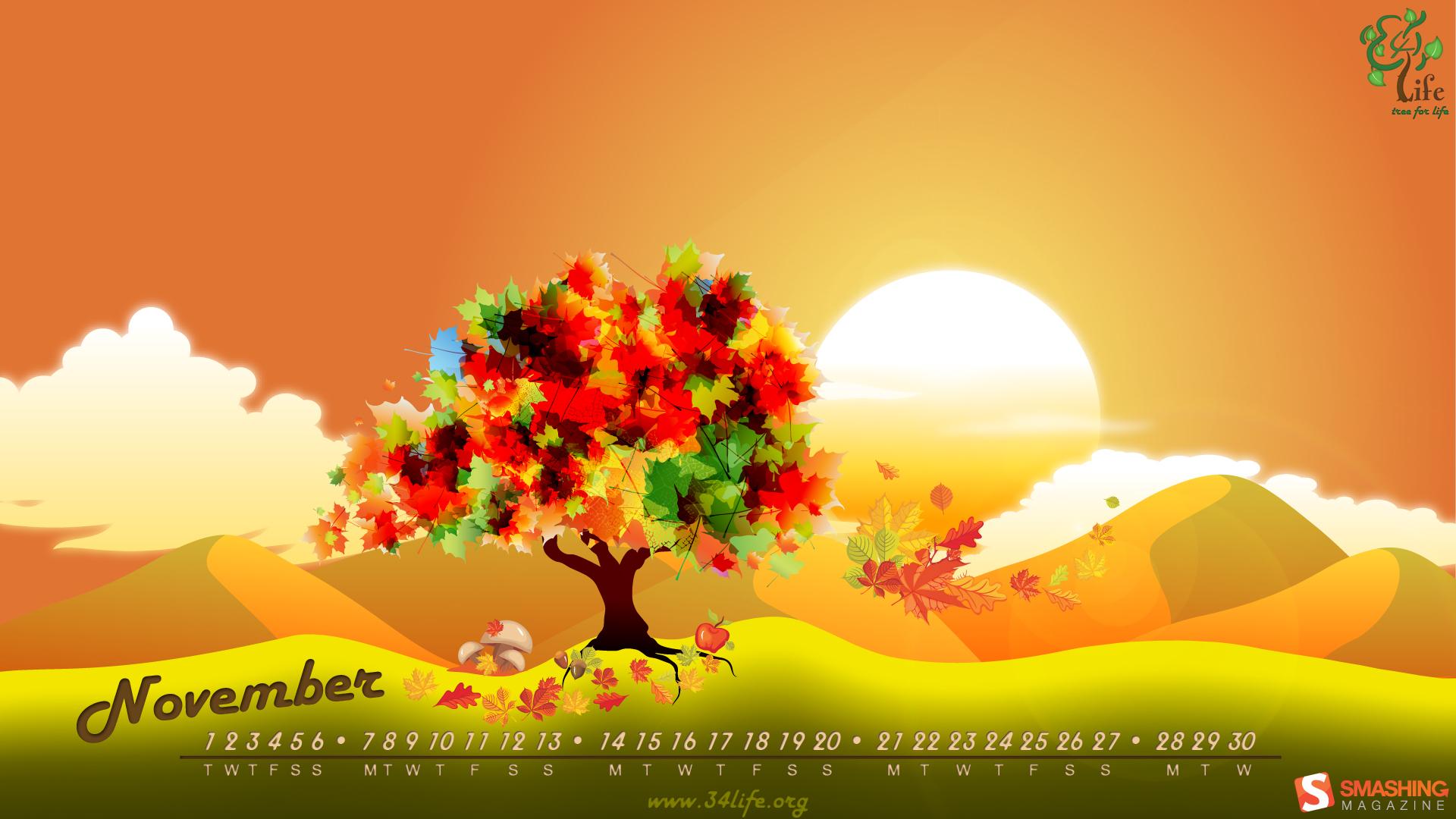November Wallpaper Desktop HD Background