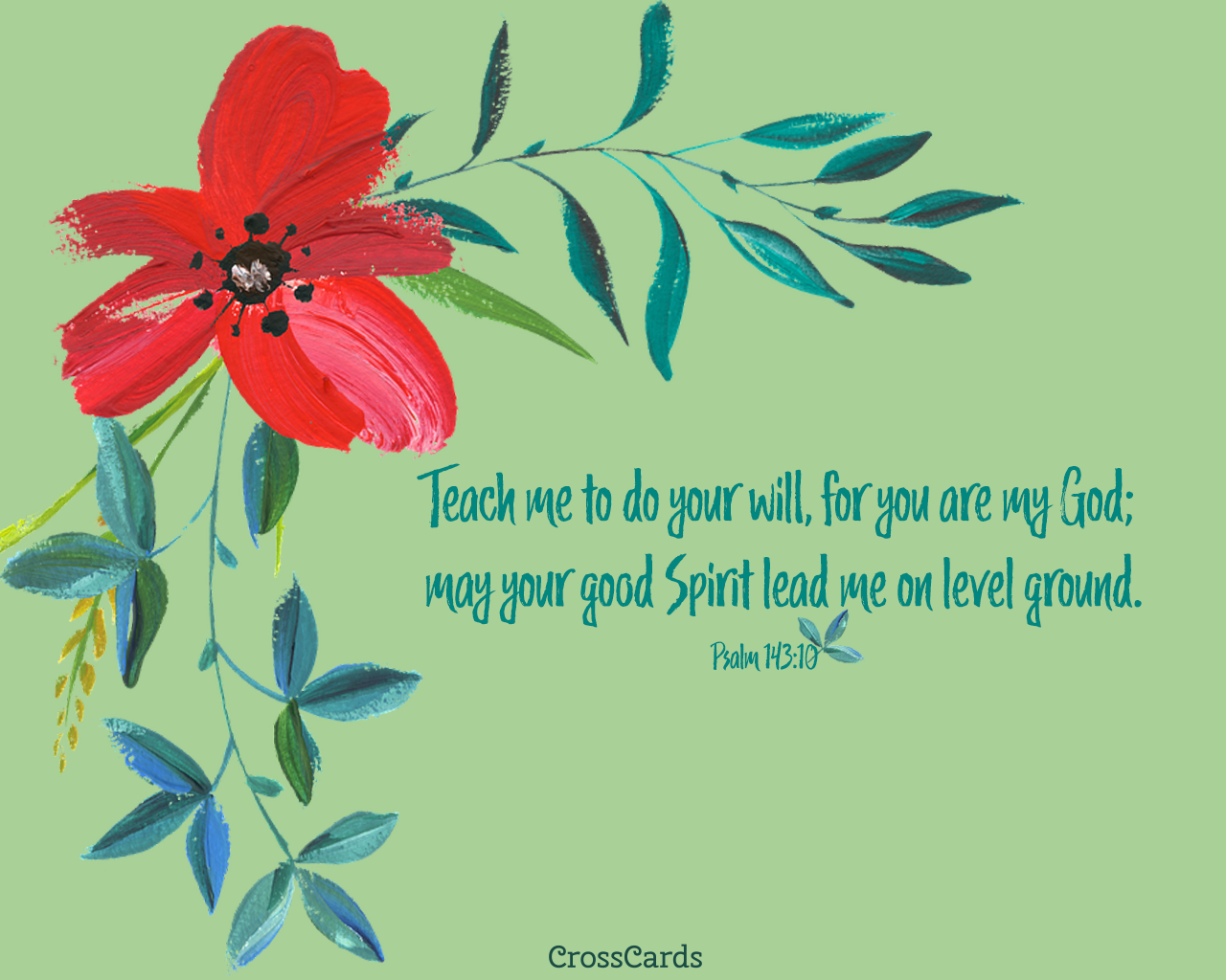 Psalm 14310 Teach me to Do Your Will for You are my God   Bible 1280x1024