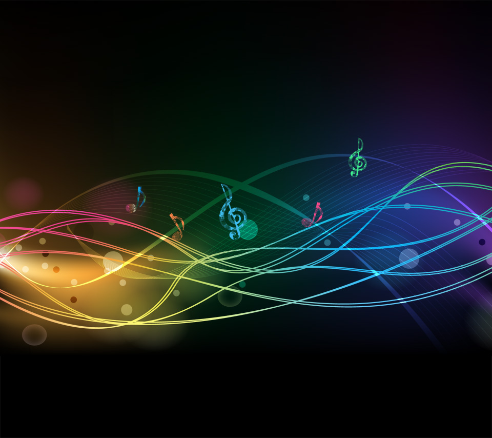 [43+] Colorful Music Notes Wallpaper on WallpaperSafari