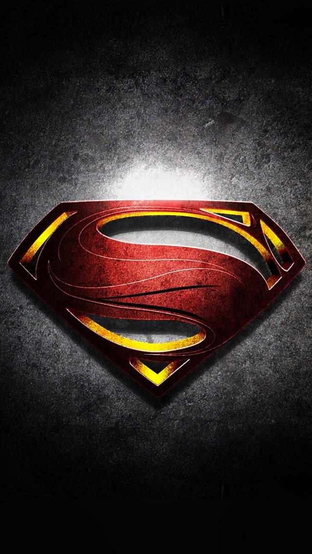 Wonder Woman Batman vs Superman Superman Logo with Noise 640x1136