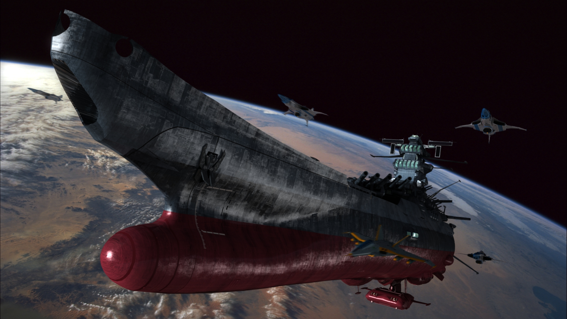 Free Download Image Search Space Battleship Yamato 1920x1080 For