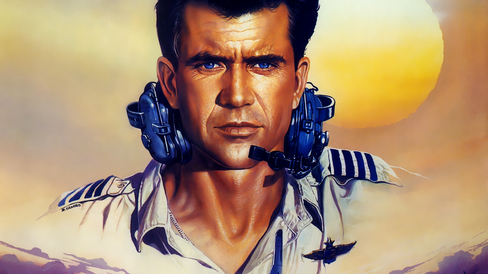 Download wallpaper 1600x900 air america mel gibson gene 1600x900
