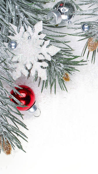Christmas White iPhone 6S Plus Wallpaper 338x600