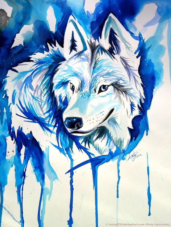 Ice Wolf Wallpaper Ice wolf by lucky978 600x797