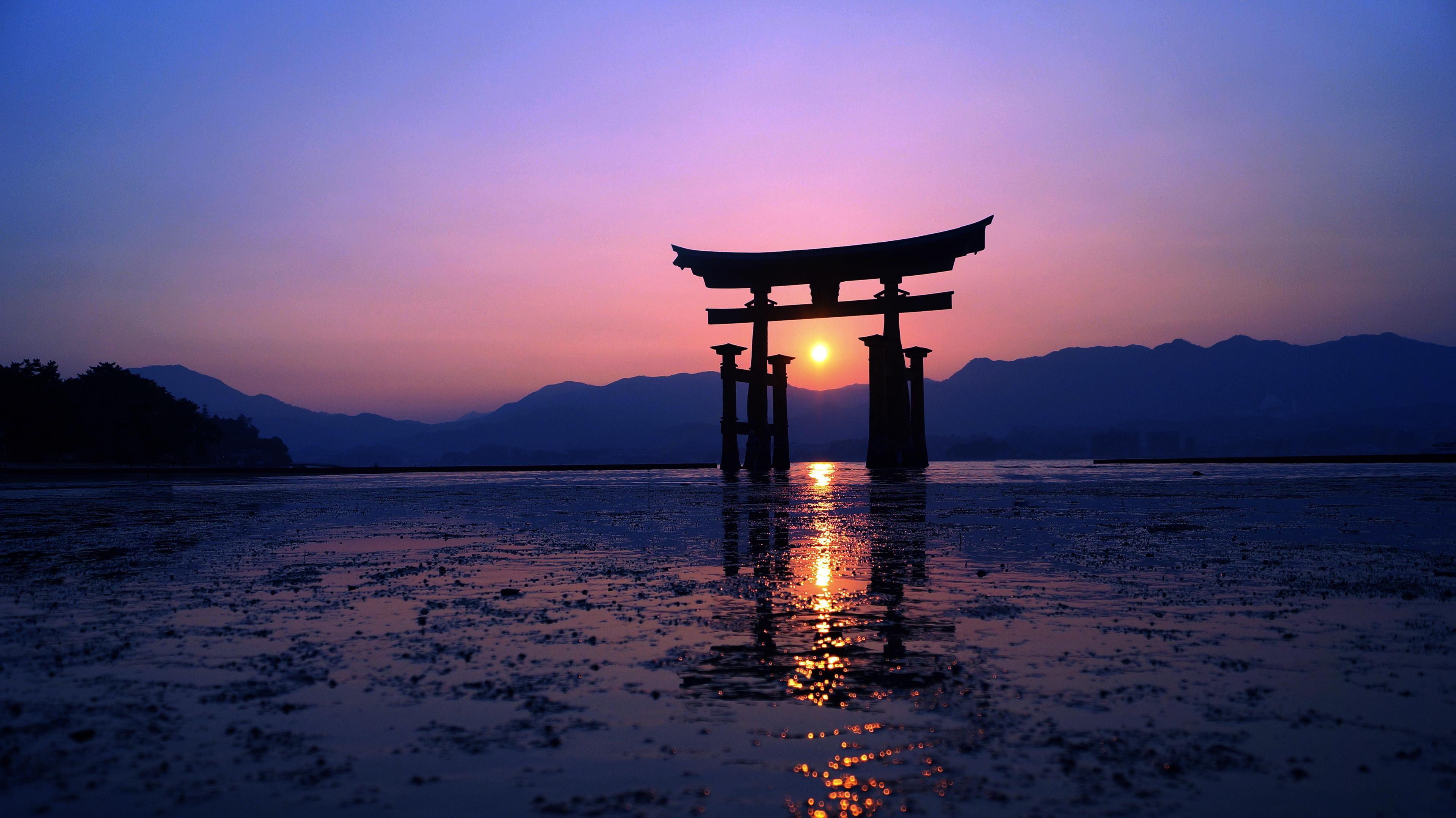 Miyajima Gate 3840x2160 Cool beans in 2019 Landscape 3840x2160
