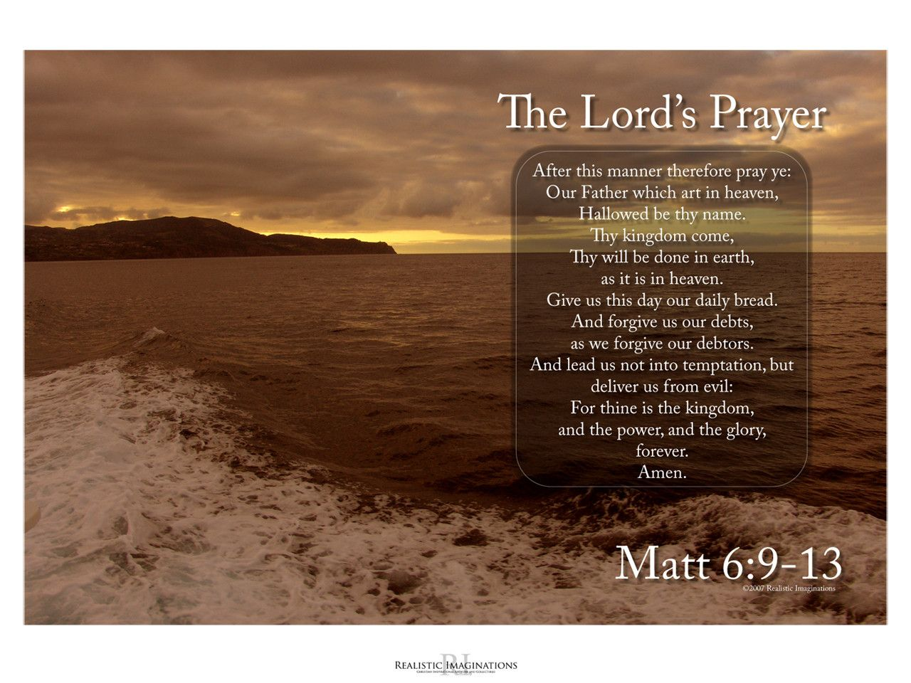 Lords Prayer Wallpaper