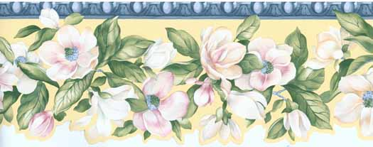 Borders Flowers   Wallpaper Border Wallpaper inccom 525x207