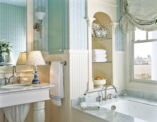 30 Bathroom Wallpaper Ideas Photo 26 639x498