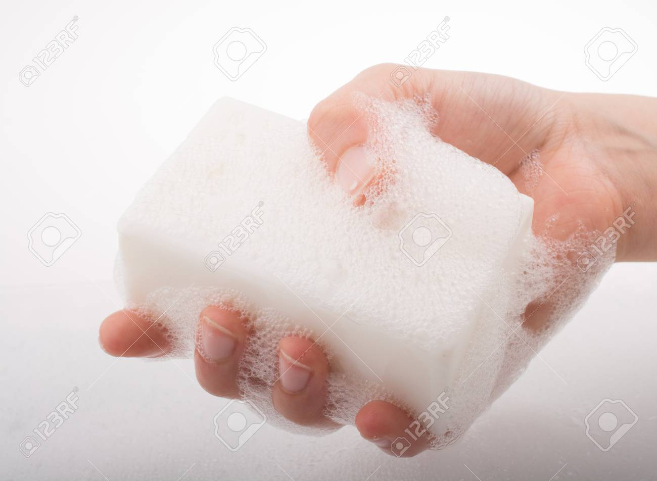 Hand Washing And Soap Foam On A Foamy Background Stock Photo 1300x952