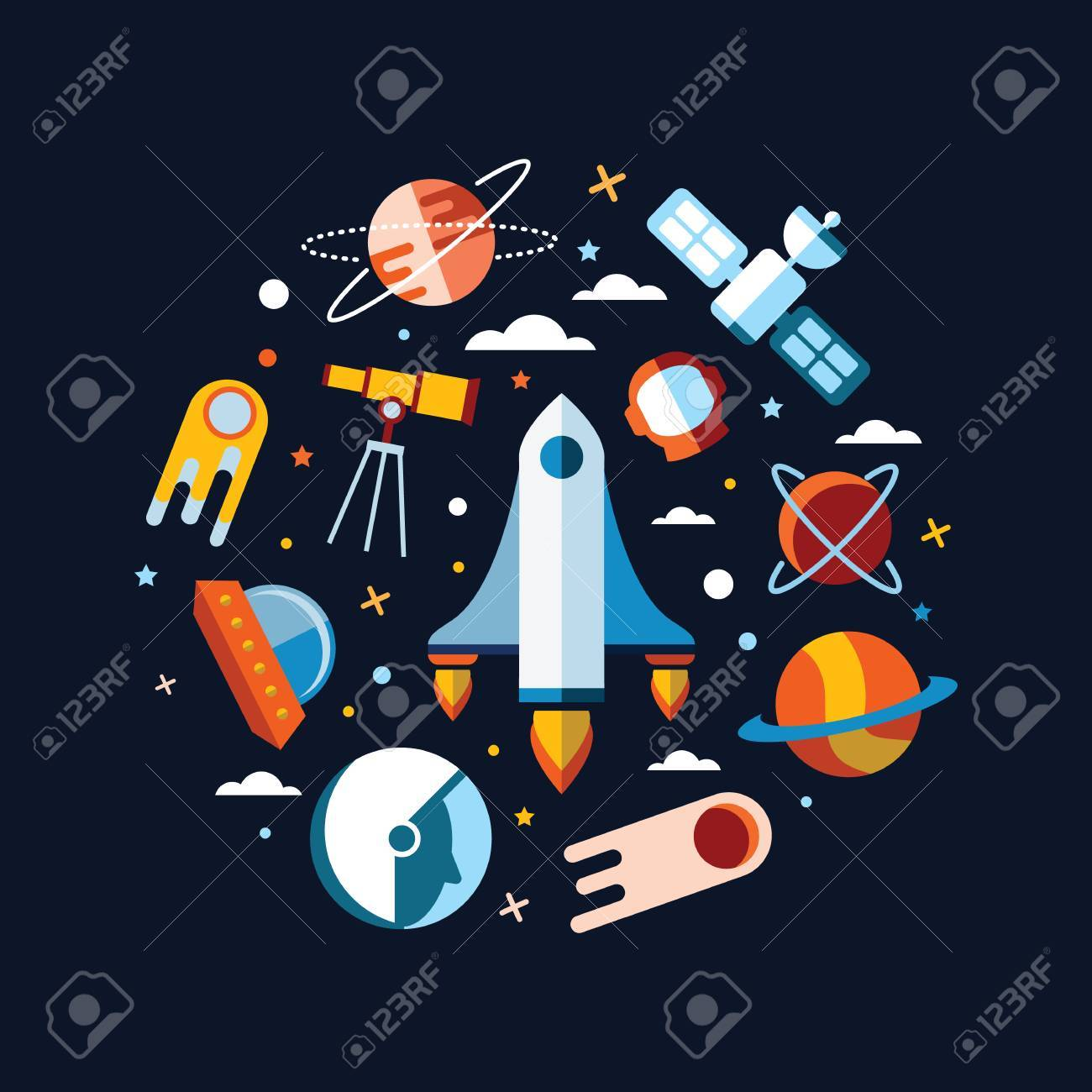 Vintage Space And Astronaut Background Royalty Cliparts 1300x1300