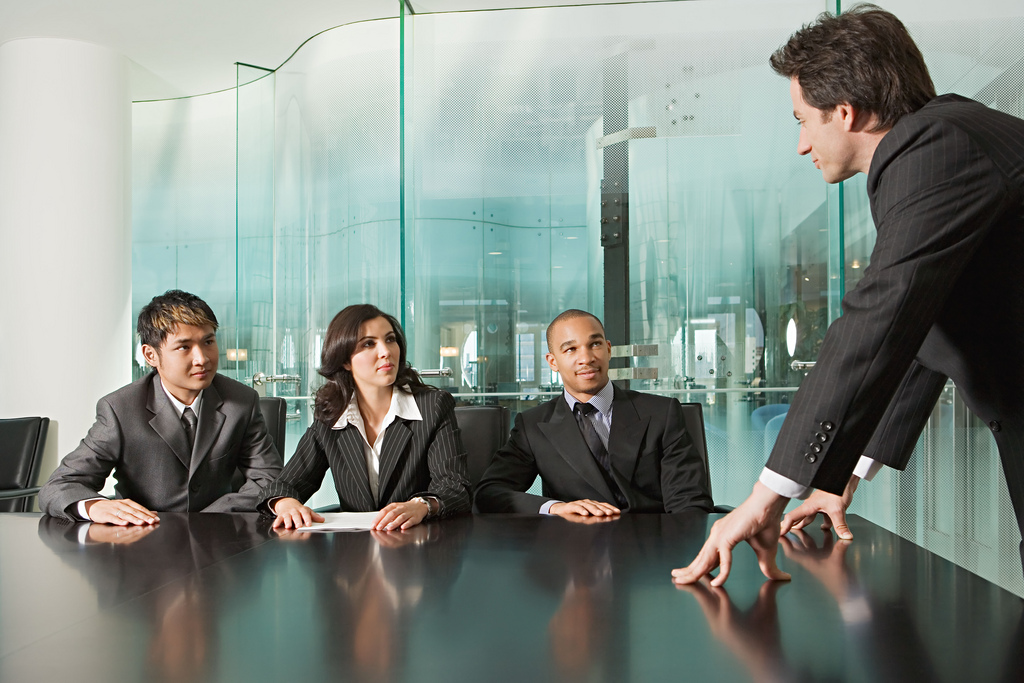 Business meeting in office Background Wallpaper for PowerPoint 1024x683