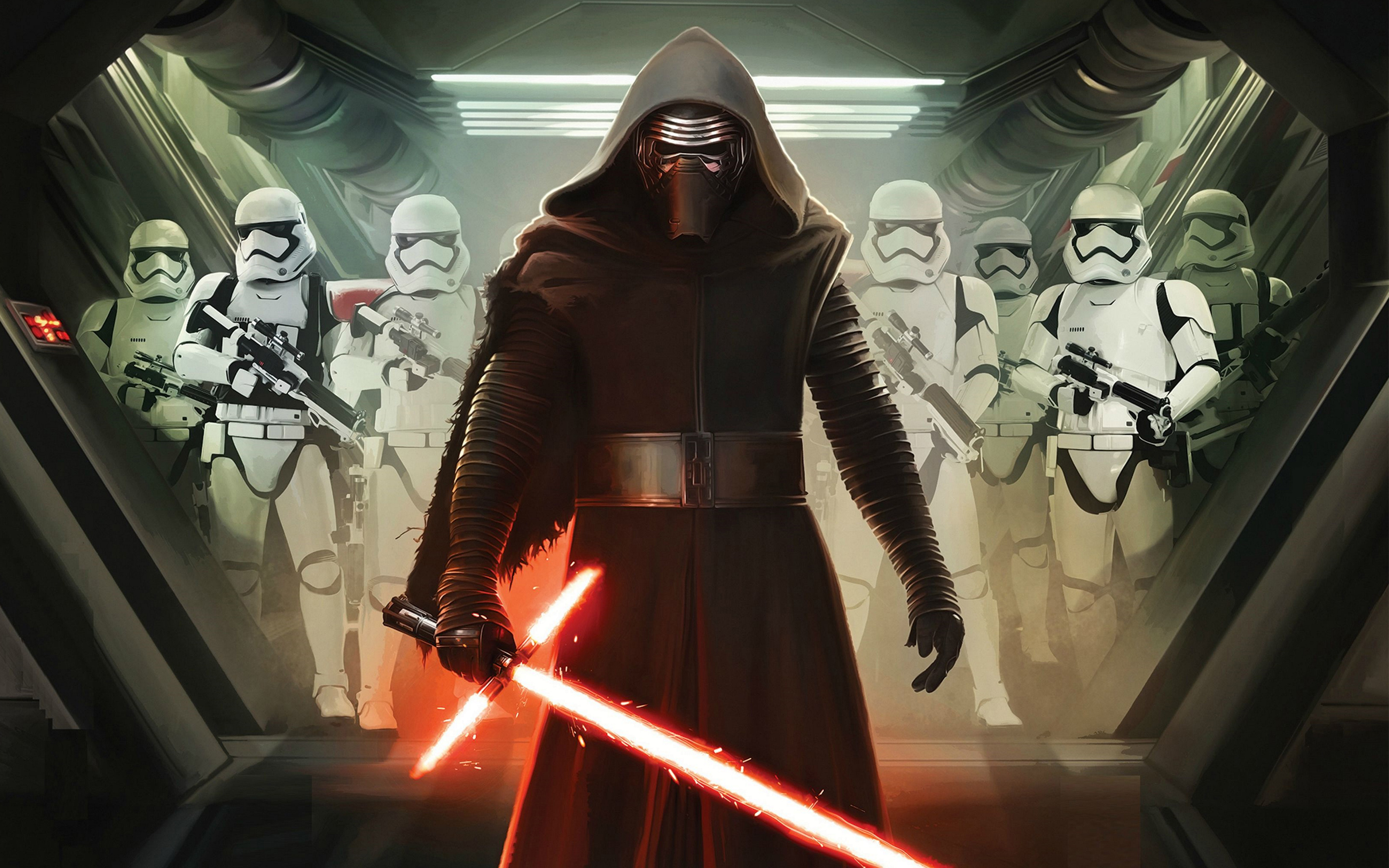 Kylo Ren and First Order Stormtroopers Wallpapers HD Wallpapers 2880x1800