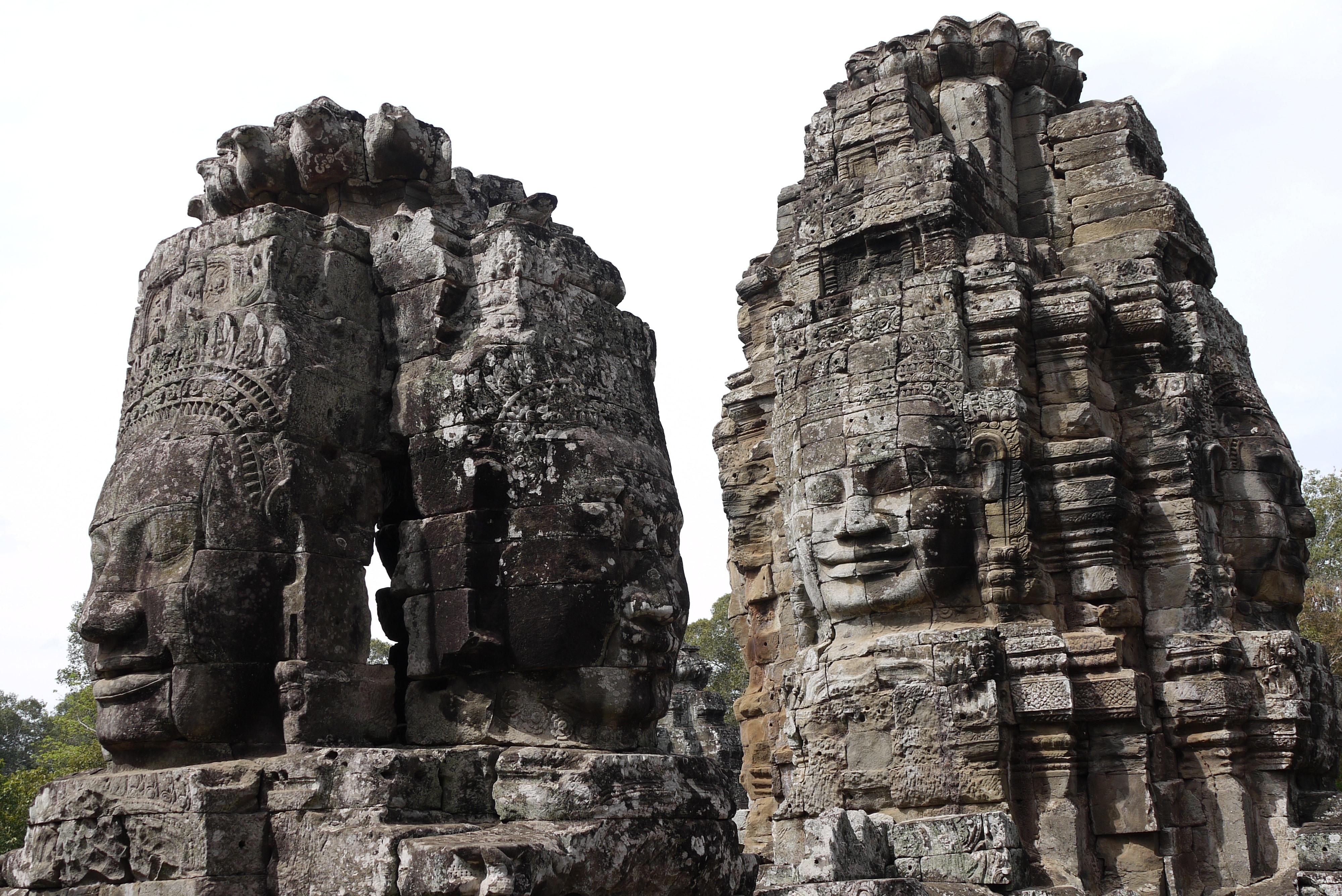 Bayon Siem Reap Angkor Wat Cambodia travel destinations 4000x2672