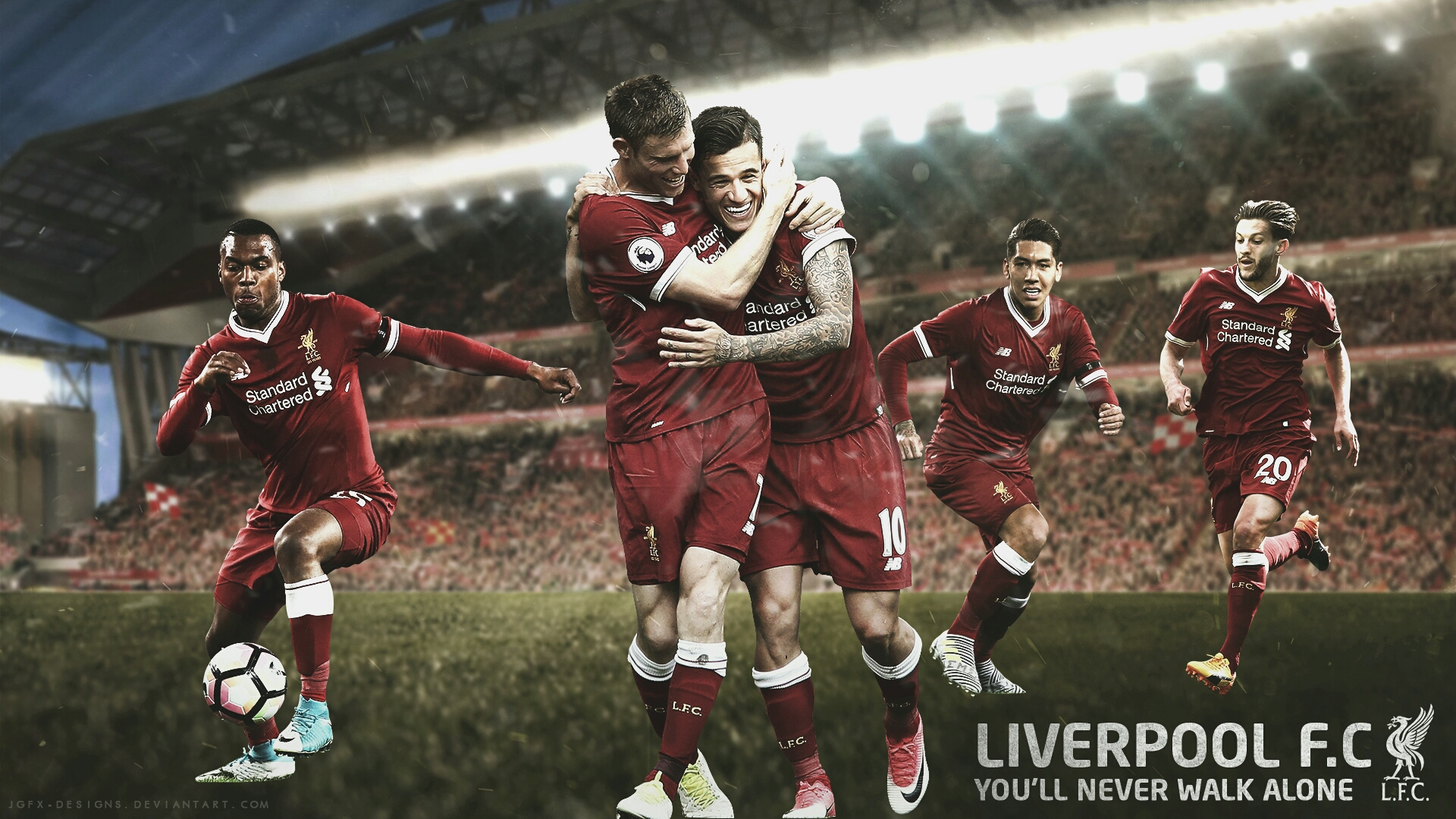 Liverpool FC Wallpaper   20172018 by jgfx designs on 1920x1080
