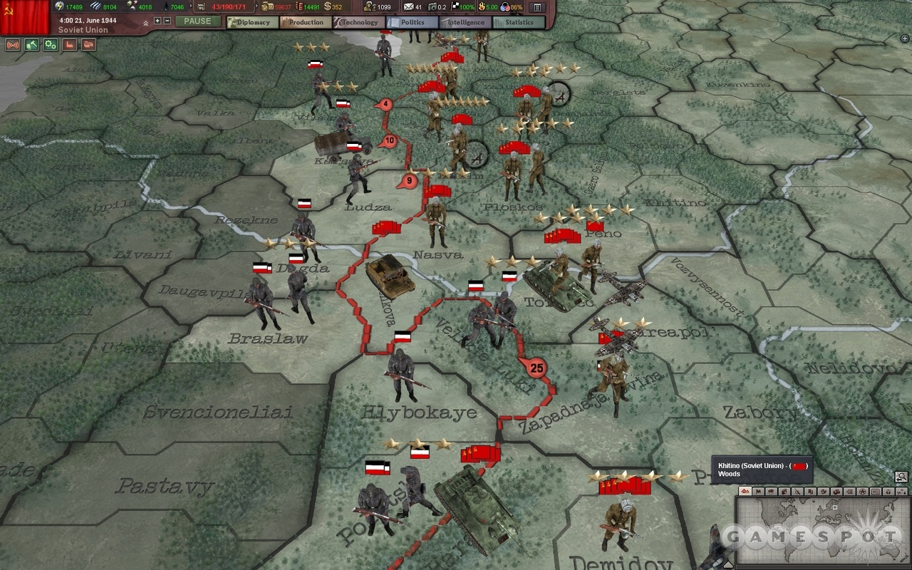 Hearts of Iron III Review   GameSpot 1280x800