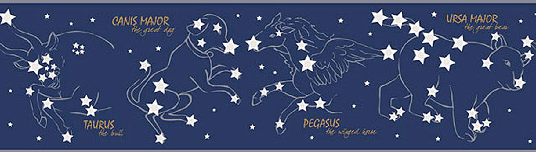 Constellations Wall Border   Night Sky Stars Wallpaper Roll 1756x500
