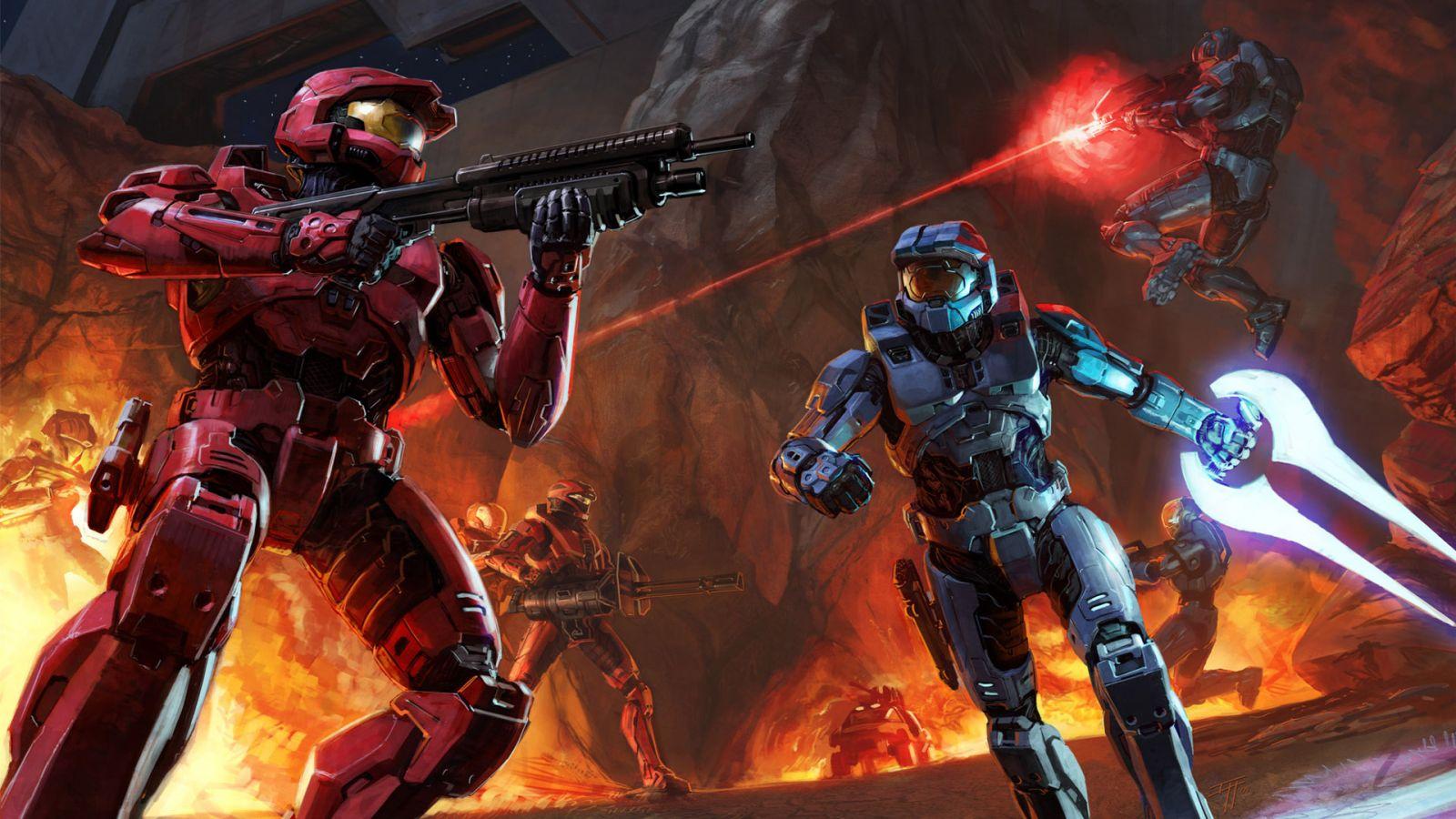 [49+] Halo Red vs Blue Wallpaper on WallpaperSafari