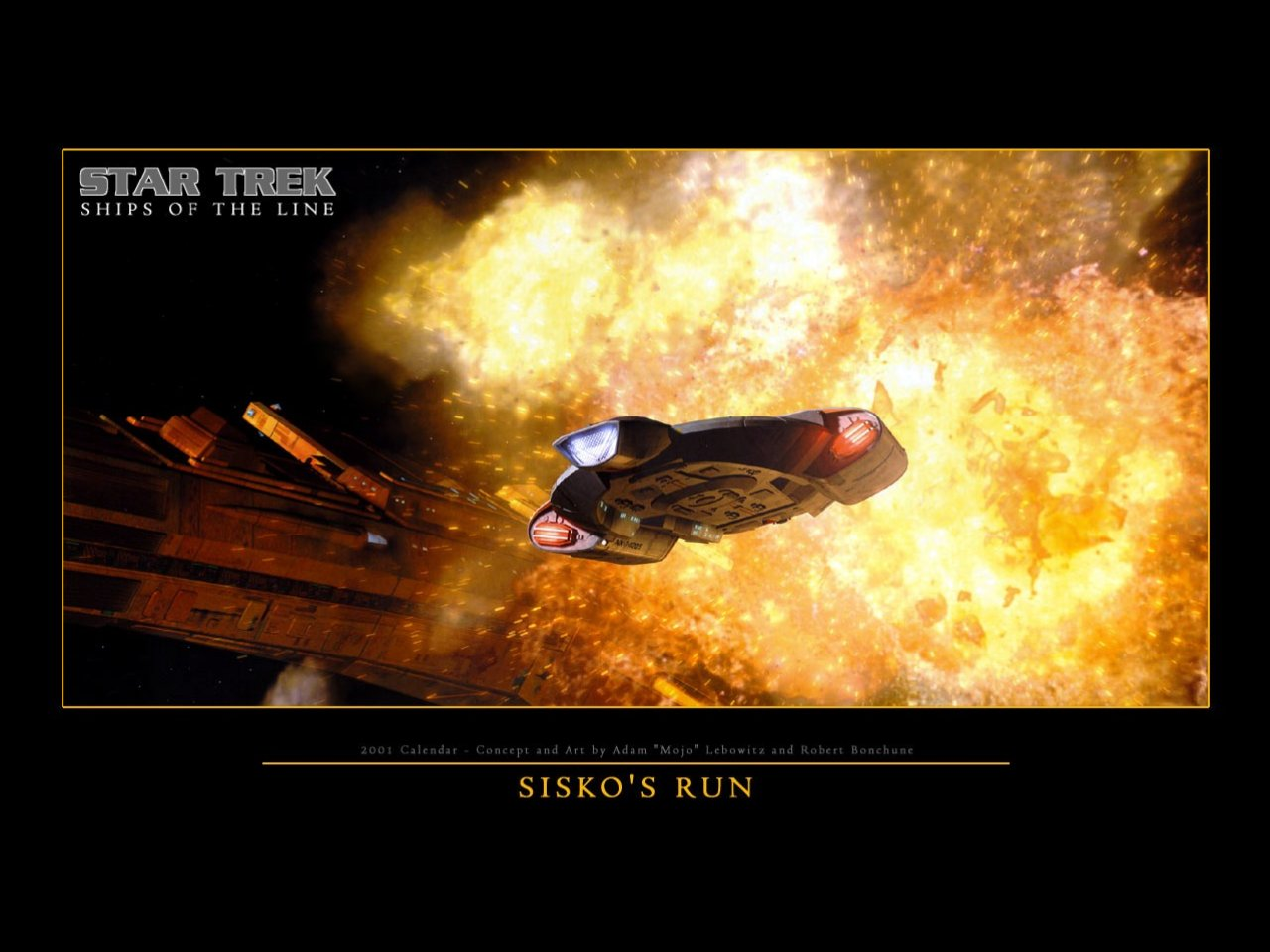 Download Deep Space Nine wallpaper DS9 Defiant Siskos Run 1280x960