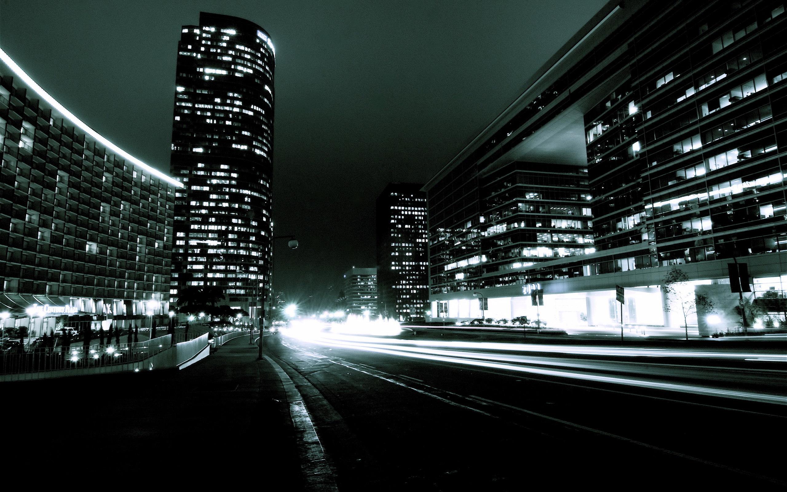 Night City Traffic desktop wallpaper 2560x1600