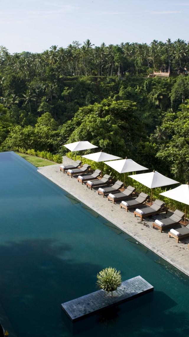 Wallpaper Alila Ubud Bali Indonesia The best hotel pools 2017 640x1138