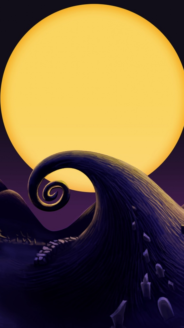 640x1136 The Nightmare Before Christmas Landscape Iphone 5 wallpaper 640x1136
