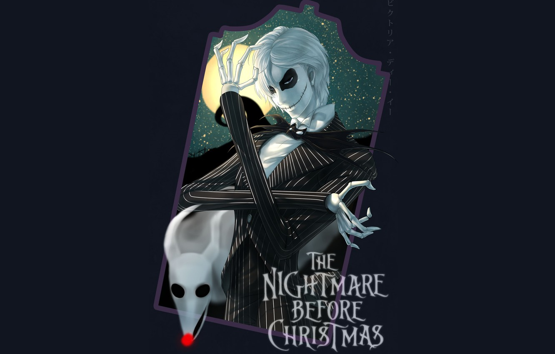 Wallpaper dog spirit frame art skeleton Jack The nightmare 1332x850