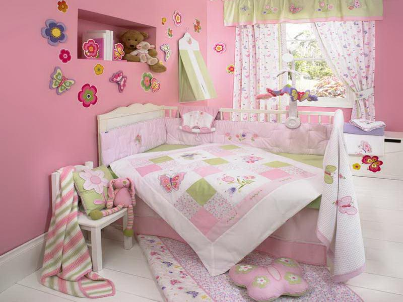 Butterfly wallpaper for girls room wallpapersafari for Butterfly bedroom ideas