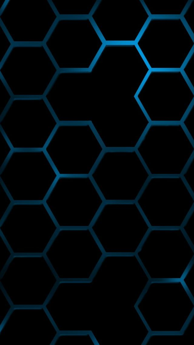 Cool Blue Hexagon wallpapers for iphone 5 640x1136