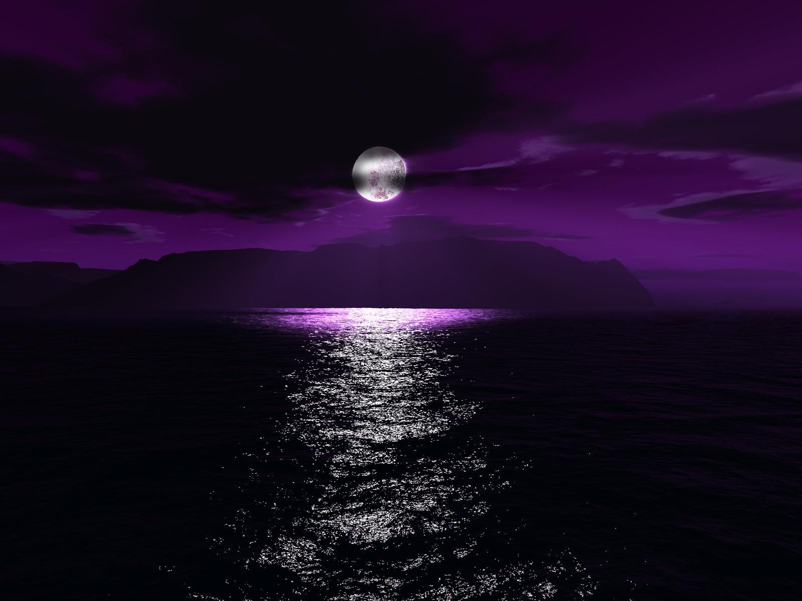 Hd purple space wallpaper wallpapersafari - Space moon wallpaper ...