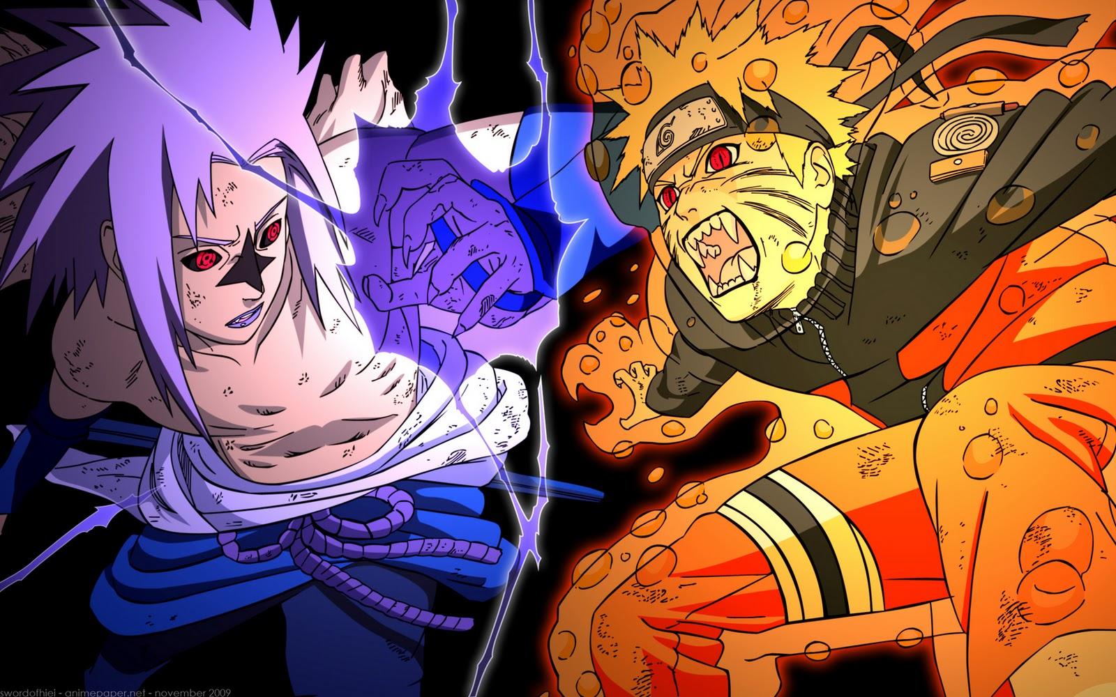 Sasuke Vs Naruto Shippuden Wallpaper Naruto vs sasuke 1600x1000