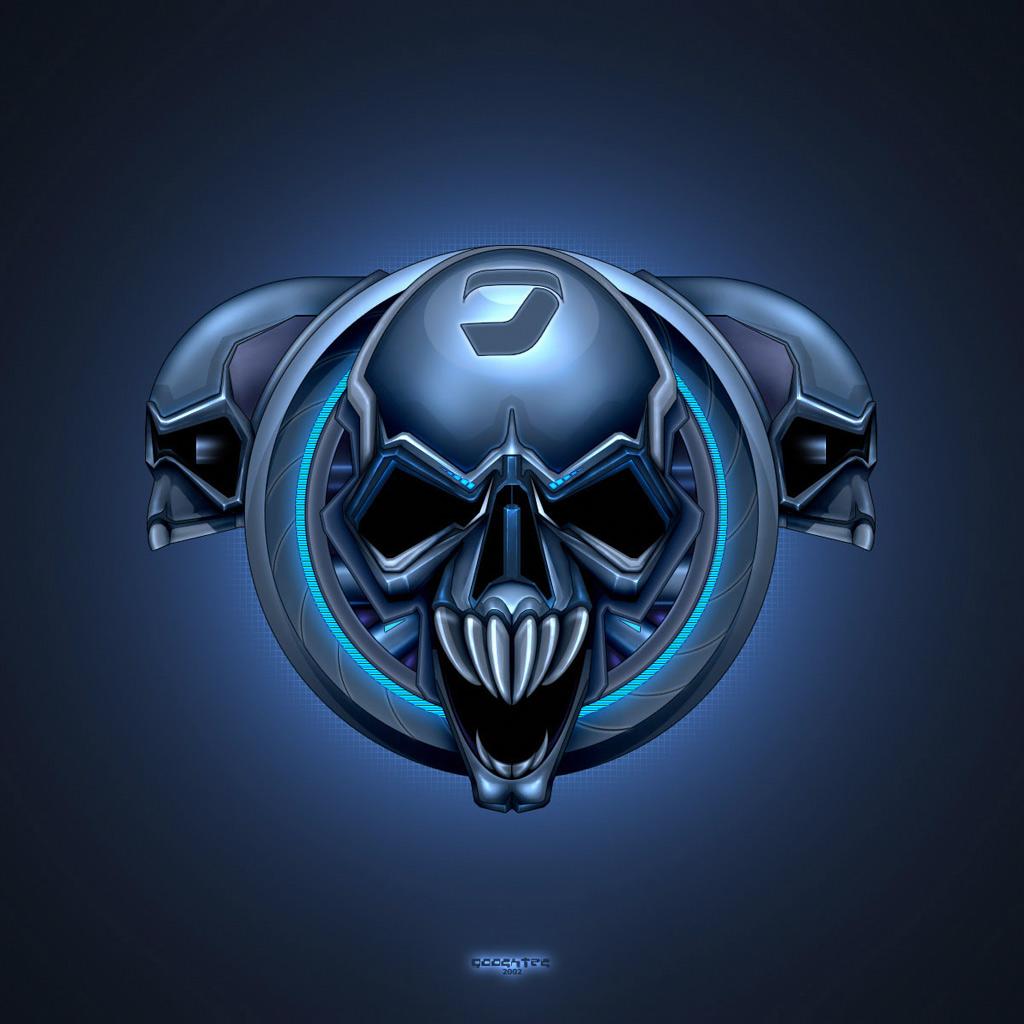 3DAbstract   Brainwash Skull 3D   iPad iPhone HD Wallpaper 1024x1024