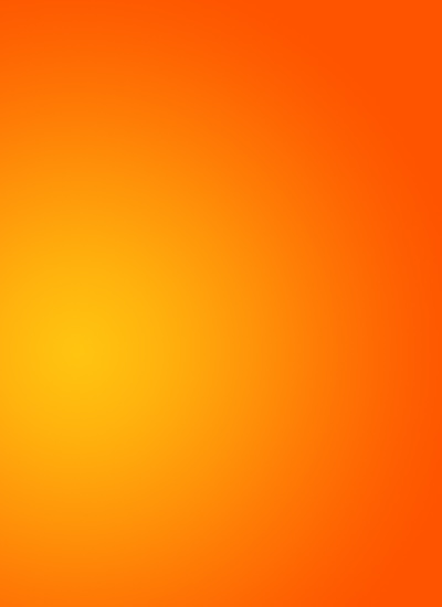 Bright Orange Radial Gradient 400x550