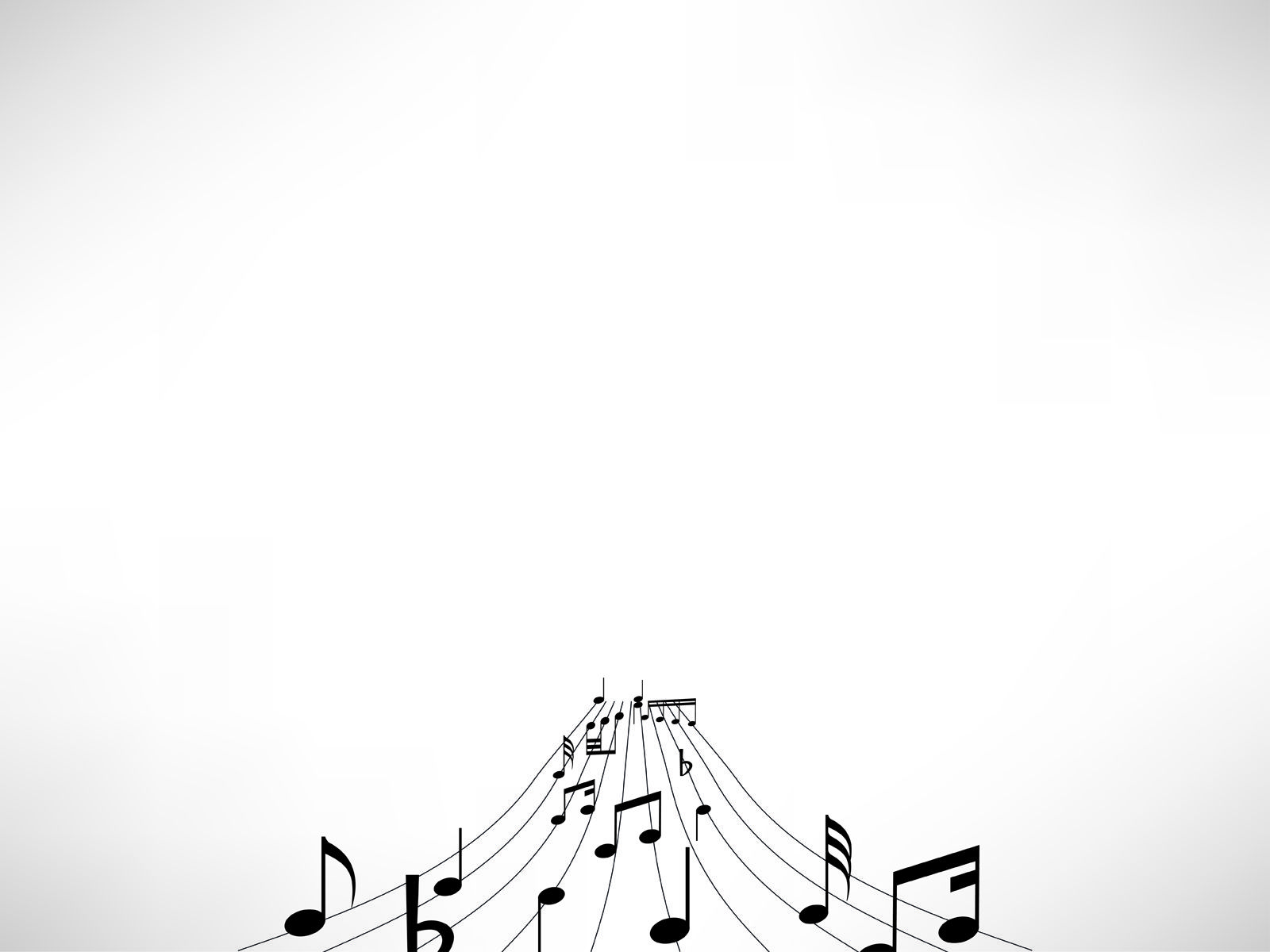 Music Notes Powerpoint Template PPT Backgrounds   Black 1600x1200