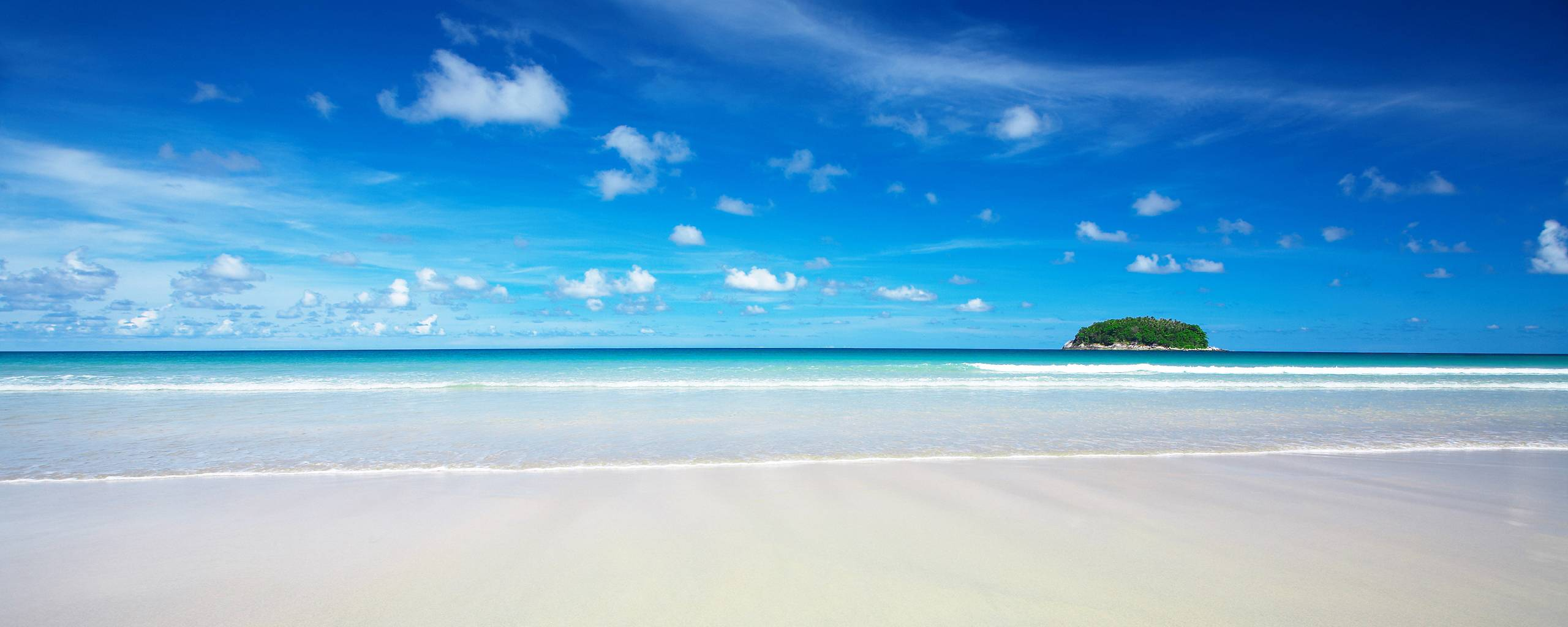 Beach Paradise Wallpapers 2560x1024