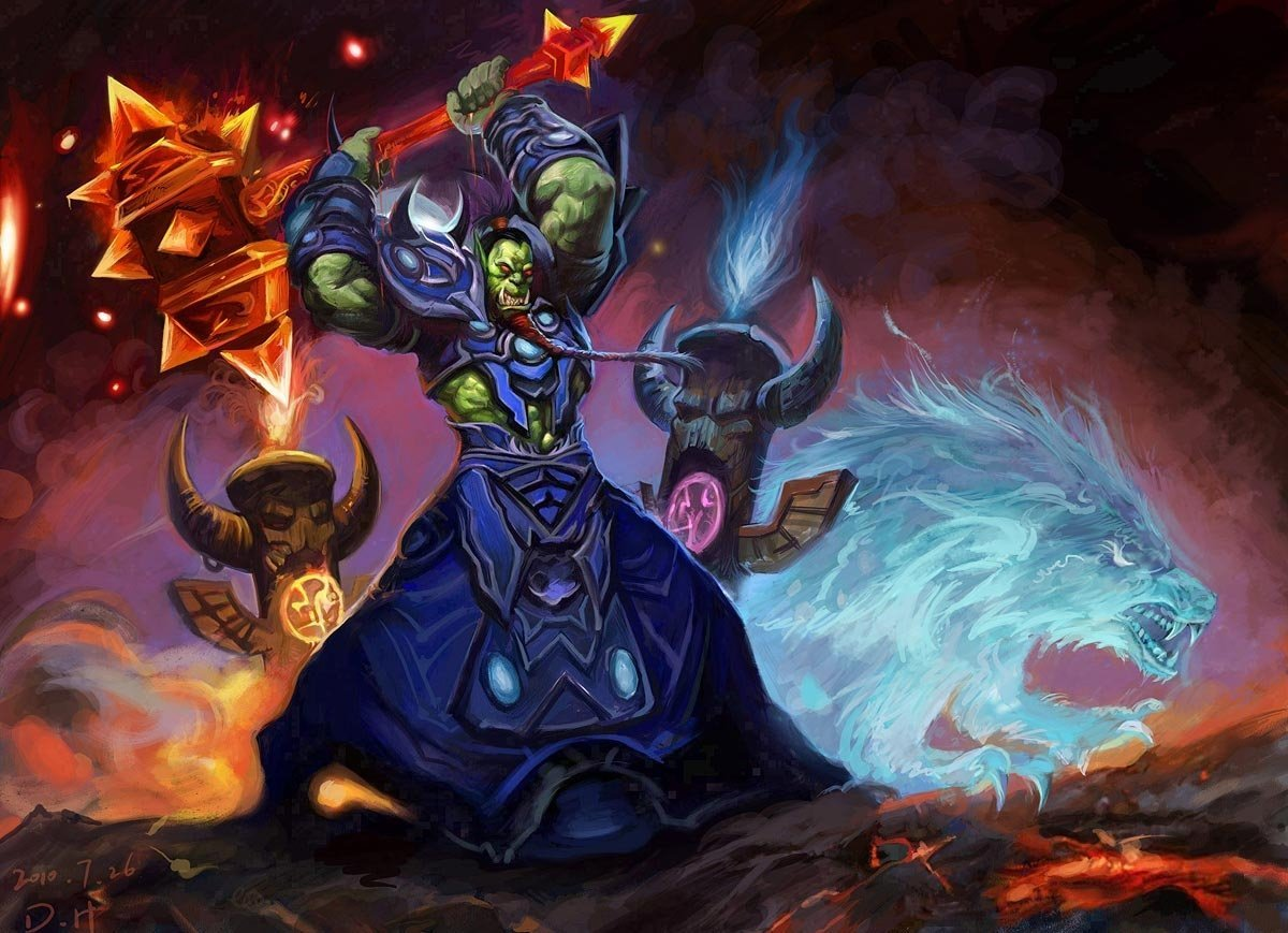 Free Download Wow Orc Shaman Wallpaper Wow 1200x869 For