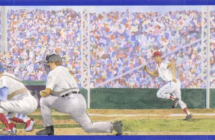 Baseball Wallpaper Border Wallpapersafari