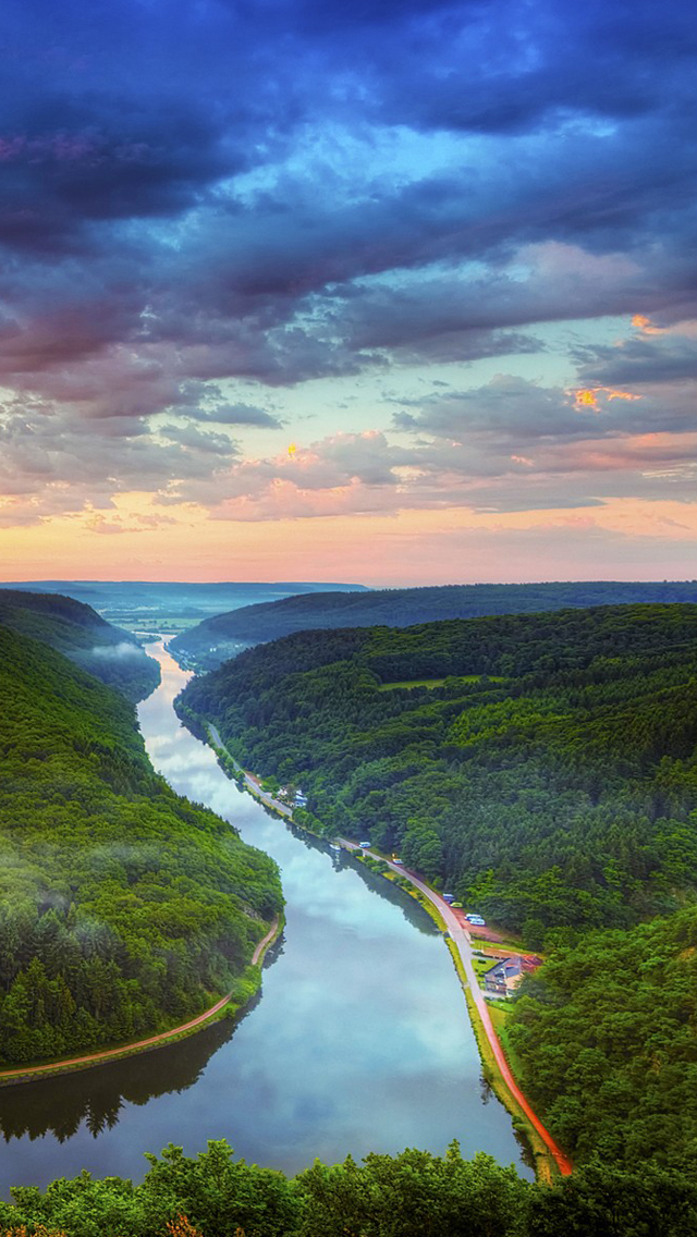 River basin iPhone Wallpapers Download 640x1136